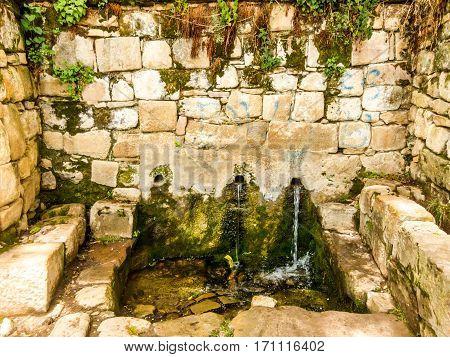 The Fountain of Youth of Isla del Sol, Lake Titicaca, Bolivia