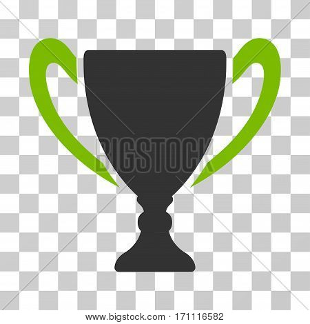 Cup icon. Vector illustration style is flat iconic bicolor symbol eco green and gray colors transparent background. Designed for web and software interfaces.