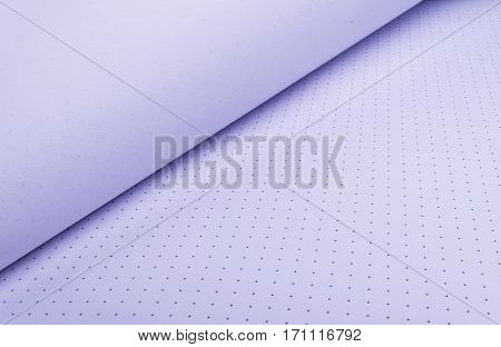 view of open notebook with blank pages, close up