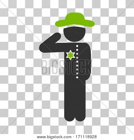 Gentleman Officer icon. Vector illustration style is flat iconic bicolor symbol eco green and gray colors transparent background. Designed for web and software interfaces.