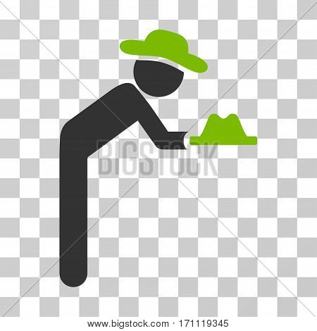 Gentleman Servant icon. Vector illustration style is flat iconic bicolor symbol eco green and gray colors transparent background. Designed for web and software interfaces.