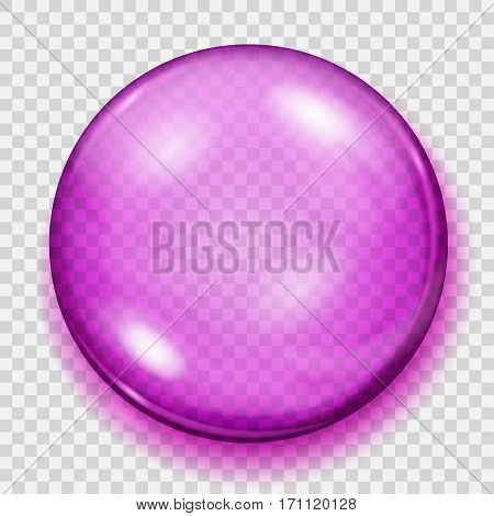 Transparent Pink Sphere With Shadow