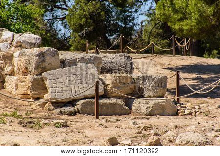 CRETE - May 20: Greece.The interiors of the Minoan palace . May 20 2016 in Crete Greece.