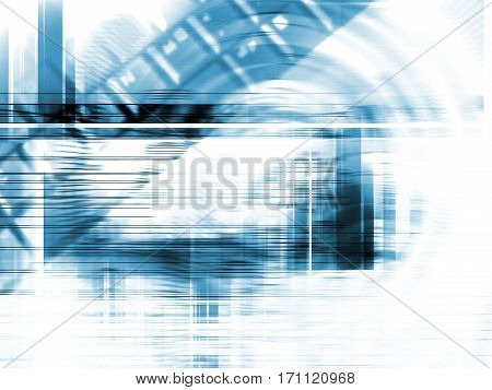 Abstract Background Three-dimensional Technology Concept.