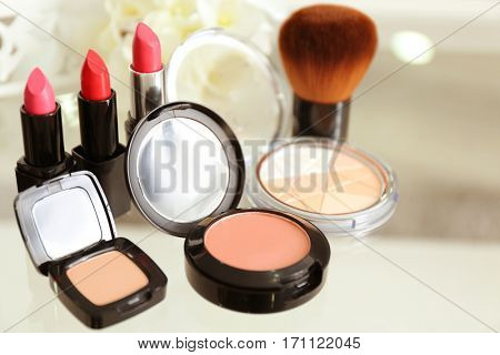 Makeup kit closeup