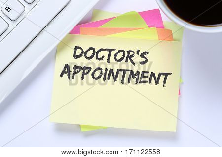 Doctor's Medical Appointment Doctor Medicine Ill Illness Healthy Health Business Desk