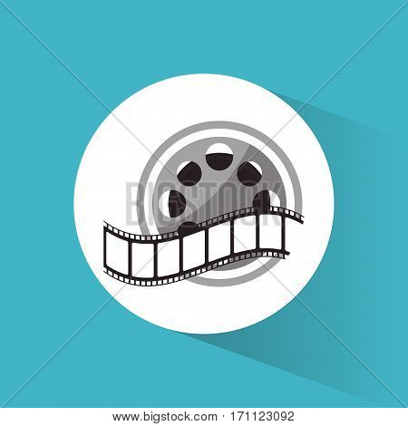 cinema reel film strip movie vector illustration eps 10