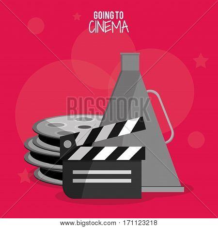 cinema film clapper reel symbol vector illustration eps 10