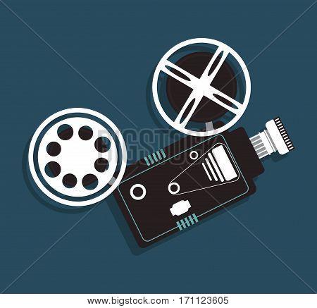 cinema camera film projector icon vector illustration eps 10