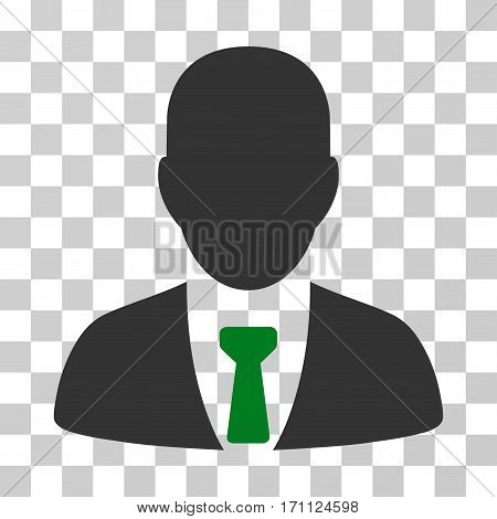 Businessman icon. Vector illustration style is flat iconic bicolor symbol green and gray colors transparent background. Designed for web and software interfaces.