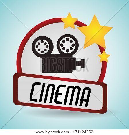 cinema film camera movie projector vector illustration eps 10