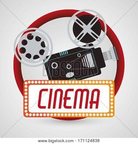vintage camera fim cinema poster vector illustration eps 10