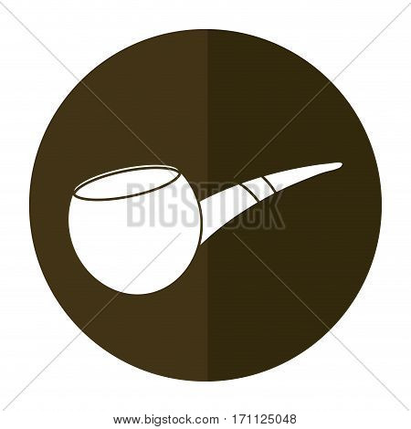 st patrick day tobacco pipe shadow vector illustration eps 10