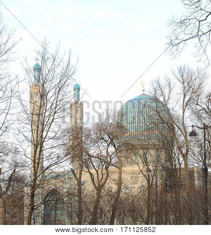 Saint Petersburg Mosque on Petrograd Side Russia.