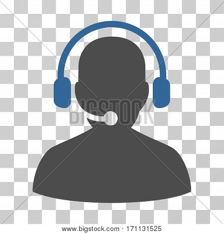 Telemarketing icon. Vector illustration style is flat iconic bicolor symbol cobalt and gray colors transparent background. Designed for web and software interfaces.