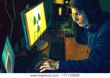 Young Hacker In The Dark Infect Computers And Systems