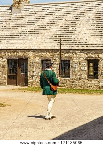 Old Fort Niagara at Summer American History soldier