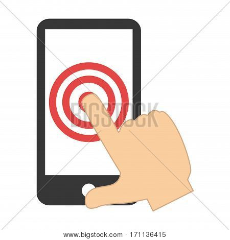 tech touch tablet and touch with finger vector illustration