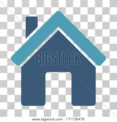 House icon. Vector illustration style is flat iconic bicolor symbol cyan and blue colors transparent background. Designed for web and software interfaces.