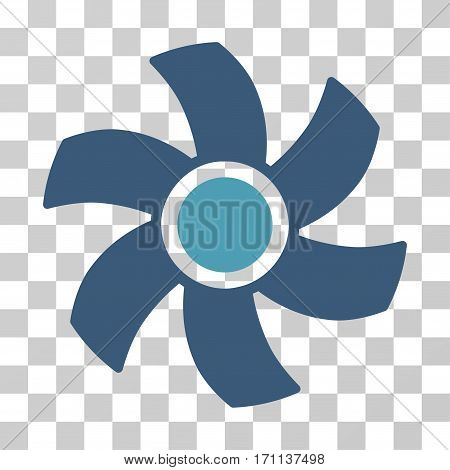 Rotor icon. Vector illustration style is flat iconic bicolor symbol cyan and blue colors transparent background. Designed for web and software interfaces.