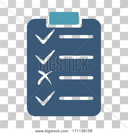 Task List icon. Vector illustration style is flat iconic bicolor symbol cyan and blue colors transparent background. Designed for web and software interfaces.