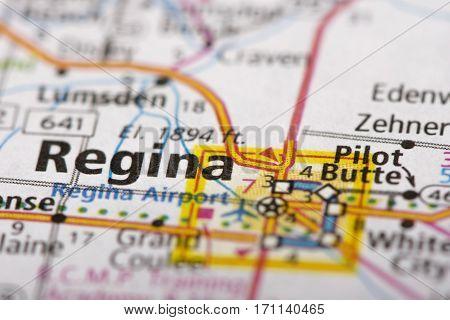 Regina, Saskatchewan On Map