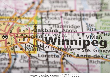 Winnipeg, Manitoba On Map