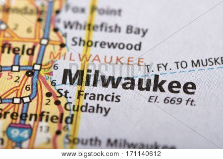 Milwaukee, Wisconsin On Map
