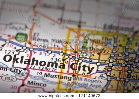 Oklahoma City On Map