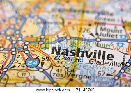 Nashville, Tennessee On Map