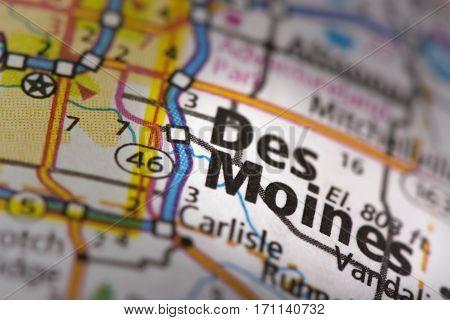 Des Moines On Map