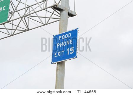 Food And Phone Exit Marker