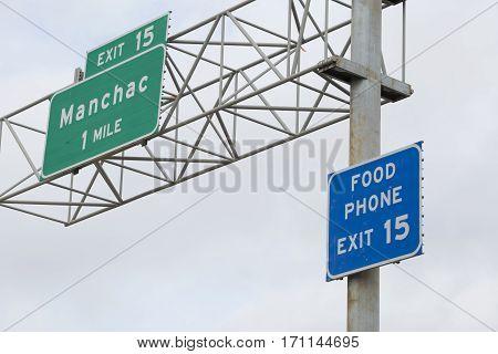 Manchac Sign