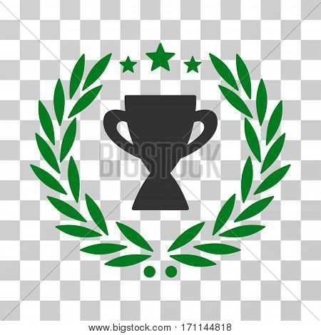 Glory Emblem icon. Vector illustration style is flat iconic bicolor symbol green and gray colors transparent background. Designed for web and software interfaces.
