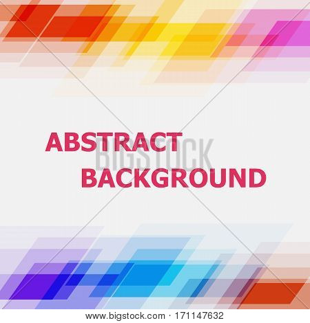 Abstract geometric overlapping colorful background, stock vector