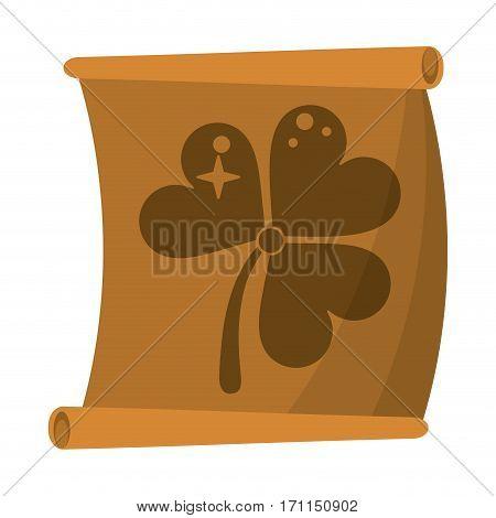 st patricks day clover papyrus vector illustration eps 10