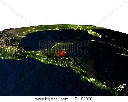 Belize From Space At Night