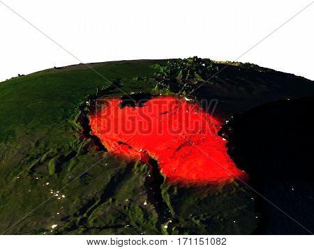 Tanzania From Space At Night