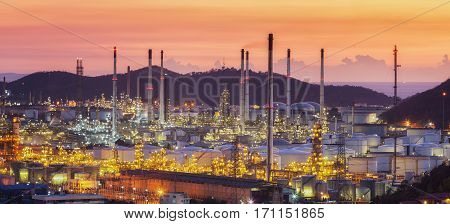 Laem Chabang oil refinery factory area The oil refinery base of Thailand in Chonburi in this area have many oil maker and car maker or auto part.