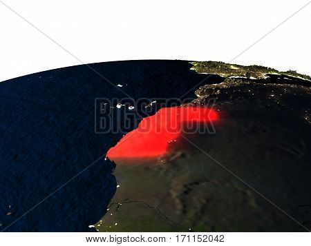 Western Sahara From Space At Night