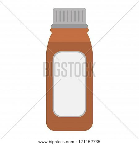 bottle medicine healhy care icon vector illustration eps 10