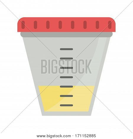 container sample laboratory icon vector illustration eps 10