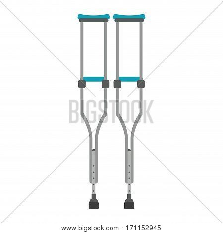 crutches disabled support icon vector illustration eps 10