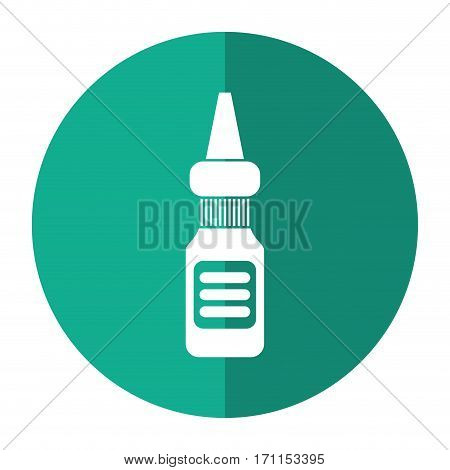 eye drop bottle medicine shadow vector illustration eps 10