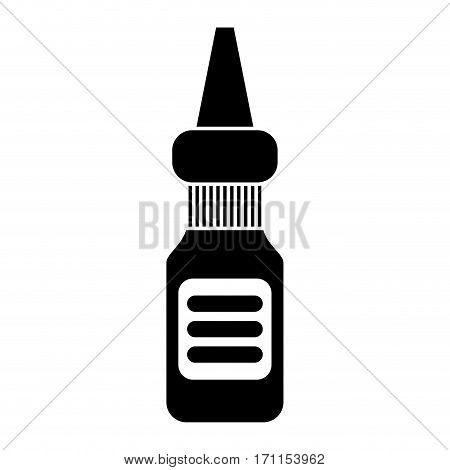 eye dropper bottle medicine pictogram vector illustration eps 10