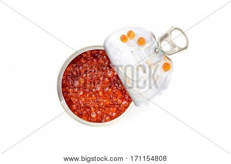 red caviar on silver spoon