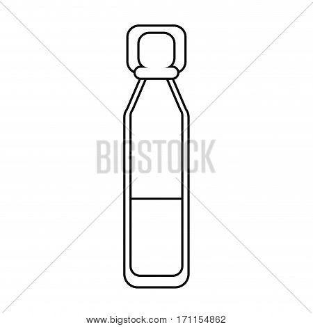bottle vials medical healthy thin line vector illustration eps 10