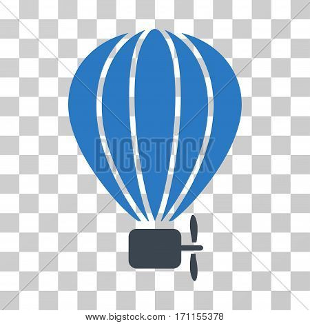 Aerostat Balloon icon. Vector illustration style is flat iconic bicolor symbol smooth blue colors transparent background. Designed for web and software interfaces.