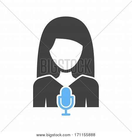 Anchor, studio, news icon vector image. Can also be used for women. Suitable for mobile apps, web apps and print media.