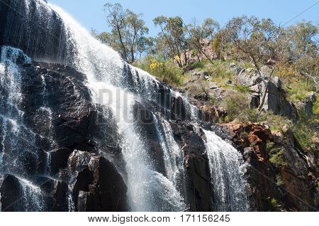 Top of the MacKencie Falls in the Grampians Ranges of Victoria, Australia